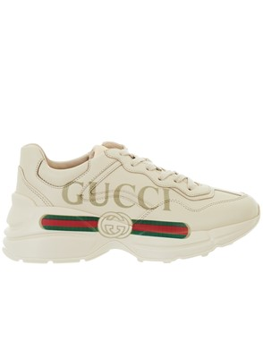 GUCCI - IVORY RHYTON SNEAKERS