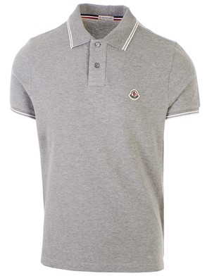 MONCLER - GREY POLO SHIRT 9dfde704e641