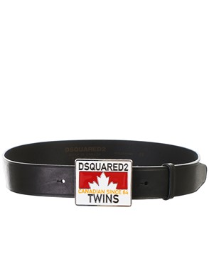 DSQUARED2 - CINTURA TWINS NERO