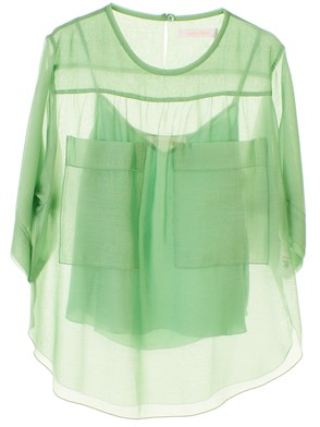 SEE BY CHLOE' - JUNGLE GREEN BLOUSE