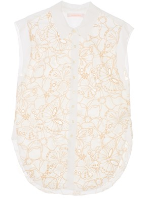SEE BY CHLOE' - TOP BIANCO E BEIGE