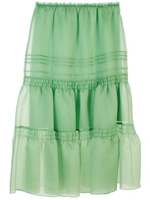 SEE BY CHLOE' - JUNGLE GREEN SKIRT