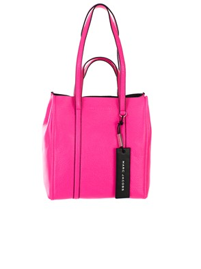 MARC JACOBS - BORSA TAG TOTE 27 ROSA FLUO