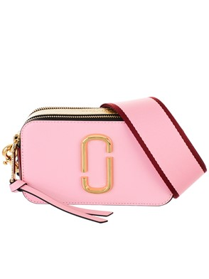 MARC JACOBS - PINK AND RED SNAPSHOT BAG