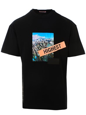 PALM ANGELS - BLACK M/C JOSEMITE TEE T-SHIRT