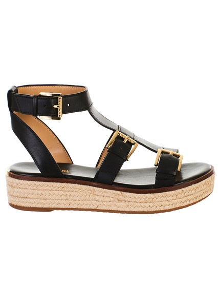 MICHAEL Michael Kors MICHAEL Michael Kors Cunningham Leather Sandal Brown 5 from Michael Kors | more