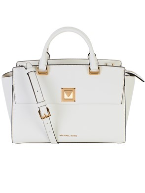 MICHAEL KORS - WHITE SELENA BAG