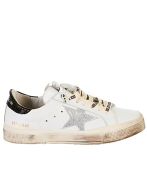 GOLDEN GOOSE DELUXE BRAND - WHITE MAY SNEAKERS