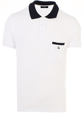 FAY - WHITE POLO SHIRT