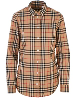 BURBERRY - BEIGE CHECK LAPWIG SHIRT