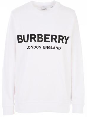 BURBERRY - WHITE FAIRHALL SWEATSHIRT