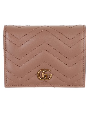 GUCCI - POWDER PINK GG MARMONT CARD HOLDER