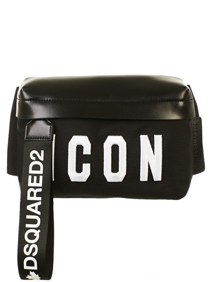 DSQUARED2 BLACK AND WHITE ICON FANNY PACK