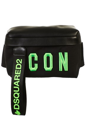 DSQUARED2 - MARSUPIO ICON NERO E VERDE