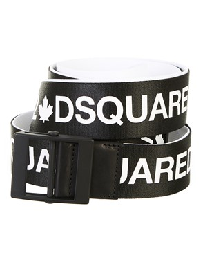 DSQUARED2 - CINTURA ACID TAPE BIANCA E NERA