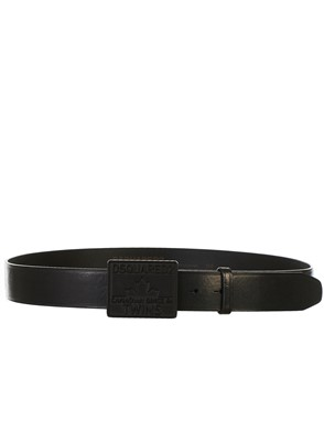 DSQUARED2 - CINTURA YOUNG PLAQUE NERA