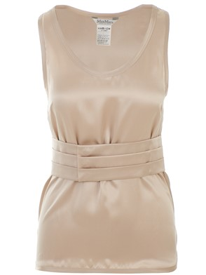 MAX MARA - BEIGE BERGER TOP