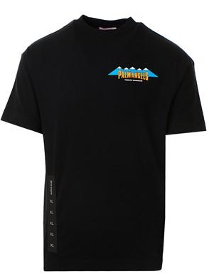PALM ANGELS - BLACK HIKING TEE T-SHIRT