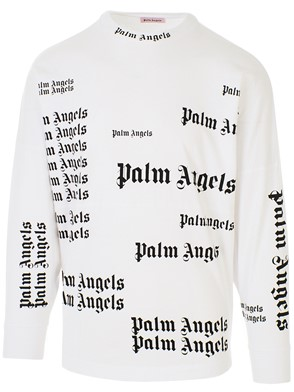PALM ANGELS - WHITE SWEATER
