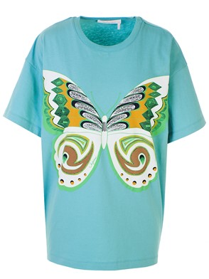 SEE BY CHLOE' - LIGHT BLUE T-SHIRT