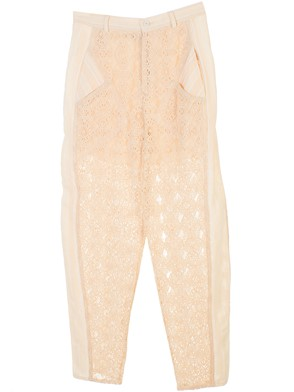 PHILOSOPHY BY LORENZO SERAFINI - CREAM-COLORED PANTS