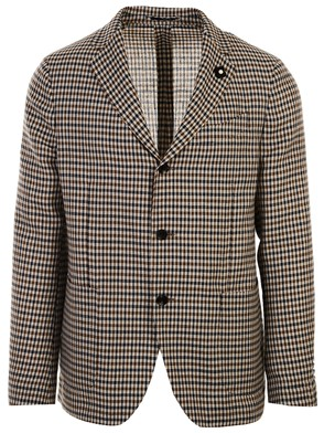 LARDINI - BLUE AND BROWN BLAZER