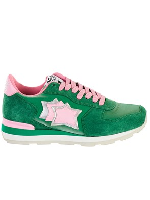 ATLANTIC STAR - GREEN AND PINK VEGA SNEAKERS