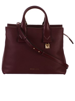 MICHAEL KORS - BURGUNDY ROLLINS BAG