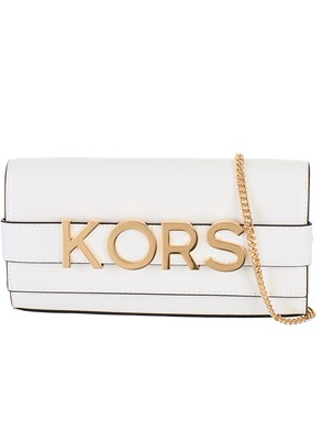 MICHAEL KORS - WHITE BELLAMIE CLUTCH