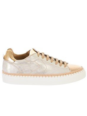 VOILE BLANCHE - GOLD PANAREA SNEAKERS