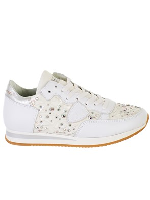 7ee95740130f0 PHILIPPE MODEL - WHITE TROPEZ DIAMANT BLANC SNEAKERS