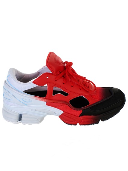 ea8eb81ab adidas by raf simons RED AND WHITE REPLICANT OZWEEGO SNEAKERS ...