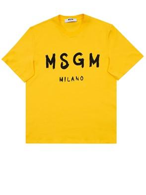 MSGM - T-SHIRT GIALLA