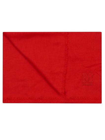 M MISSONI RED SCARF