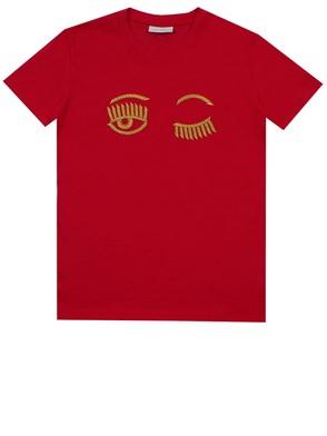 CHIARA FERRAGNI - RED T-SHIRT