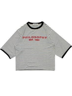 PHILOSOPHY BY LORENZO SERAFINI - BLACK AND WHITE T-SHIRT