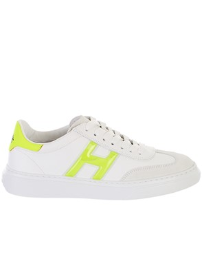 HOGAN - NEON YELLOW AND WHITE SNEAKERS