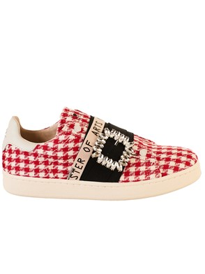 MASTER OF ARTS - RED AND WHITE SLIP-ONS