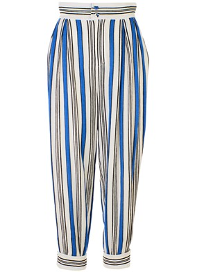 PHILOSOPHY BY LORENZO SERAFINI - WHITE AND BLUE PANTS
