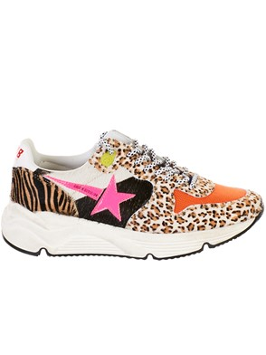 GOLDEN GOOSE DELUXE BRAND - ANIMAL PRINT RUNNING SOLE SNEAKERS