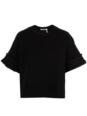 SEE BY CHLOE' - T-SHIRT M/C POWDER NERA