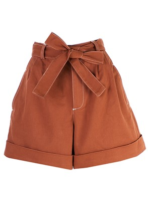 SEE BY CHLOE' - ORANGE BERMUDA SHORTS