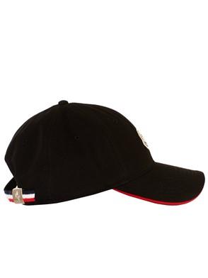 MONCLER - BLACK BASEBALL CAP