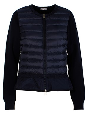 MONCLER - BLUE PIUMA SWEATER