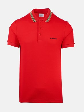 BURBERRY - RED JOHNSTON POLO SHIRT
