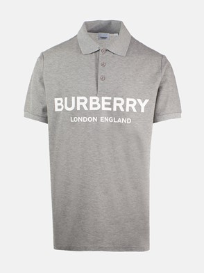 BURBERRY - GREY LUCKLAND POLO SHIRT