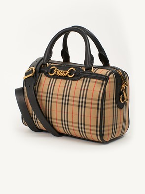 BURBERRY - BROWN LINK BOWLING BAG
