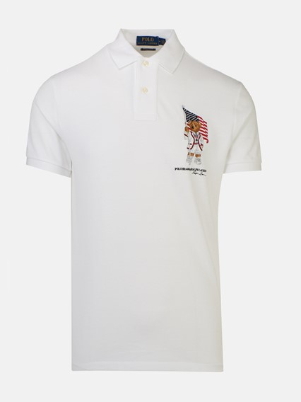 25208a65d19497 polo ralph lauren WHITE TEDDY BEAR POLO SHIRT available on ...