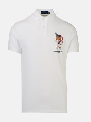 POLO RALPH LAUREN - WHITE TEDDY BEAR POLO SHIRT