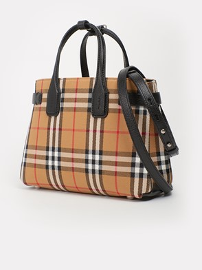 BURBERRY - MD BANNER CHECK BAG